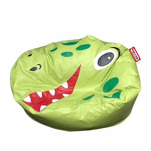 Sillon Puff Dinosaurio verde. Ideal Para Personas De Hasta 70 Kg