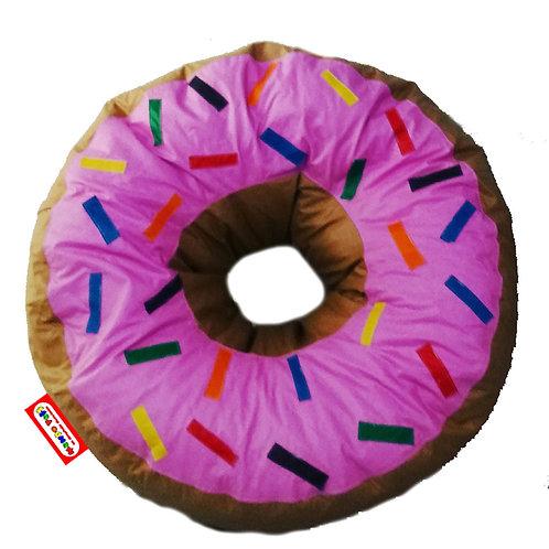 Sillon Puff Rosquilla Pink. Ideal Para Personas De Hasta 75 Kg