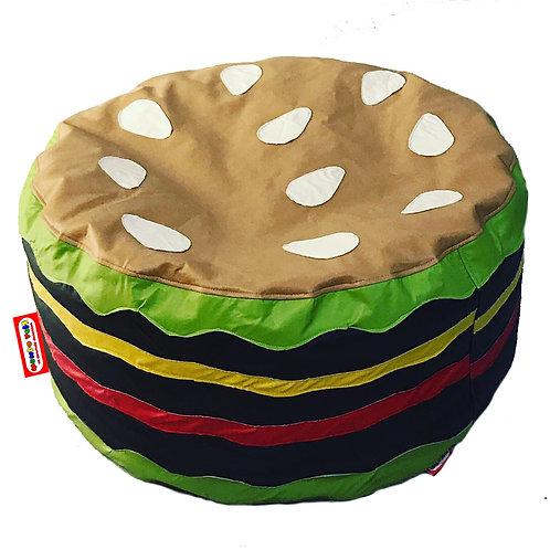 Sillon Puff Hamburguesa. Ideal Para Personas De Hasta 75 Kg