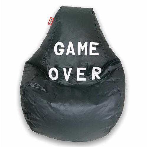 Sillon Puff Pera Gamer Mediano Game Over. Soporta Hasta 70 Kilos