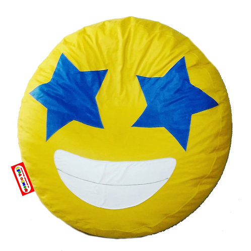 Sillon Puff Emoji Estrellado. Ideal Para Personas De Hasta 70 Kg