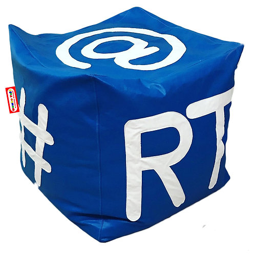 Sillon Puff Cubo Tweet. Ideal Para Personas De Hasta 100 kg