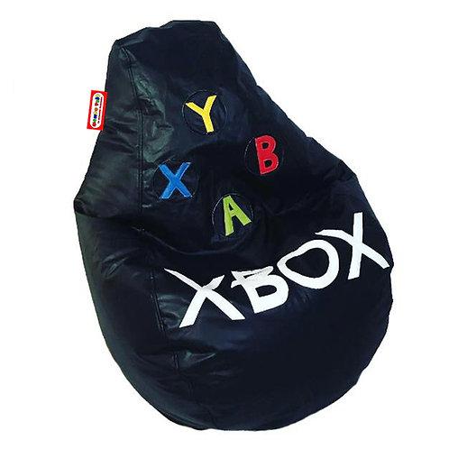 Sillon Puff Pera Gamer Mediano Xbox. Para Personas De Hasta 70 Kilos