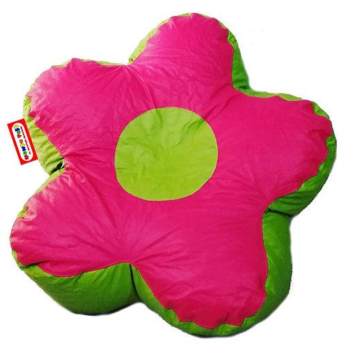 Sillon Puff Flor Grande. Ideal Para Personas de hasta 75 kg