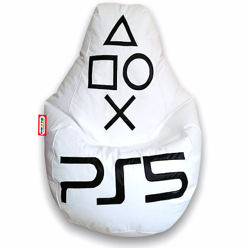 Sillon Puff Pera Gamer Grande PS5. Soporta hasta 100 Kilos
