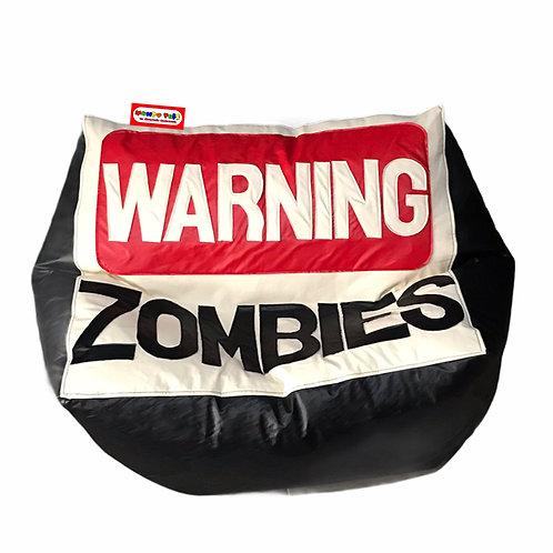 Sillon Puff Warning Zombies, Ideal Para Personas De Hasta 70 Kg
