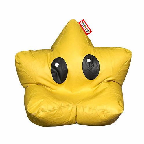 Sillon Puff Estrella con ojos. Ideal Para Personas De Hasta 70 Kg