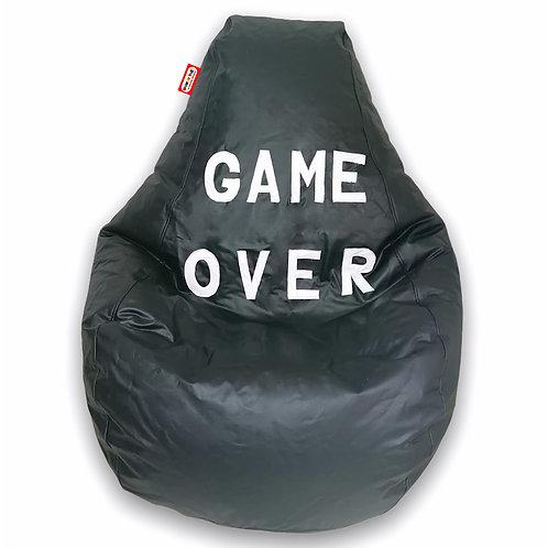 Sillon Puff Pera Gamer Grande Game Over Soporta hasta 100 Kilos