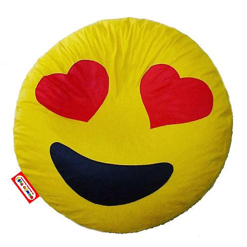 Sillon Puff Emoji Enamorado. Ideal Para Personas De Hasta 70 Kg