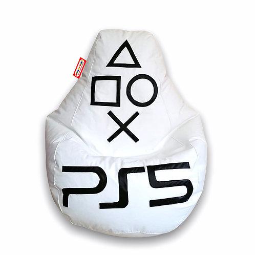 Sillon Puff Pera Gamer Mediano PS5. Soporta Hasta 70 Kilos