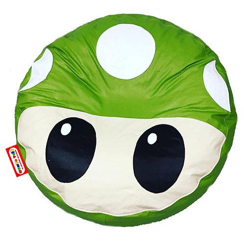 Sillon Puff Hongo Verde. Ideal Para Personas De Hasta 70 Kg