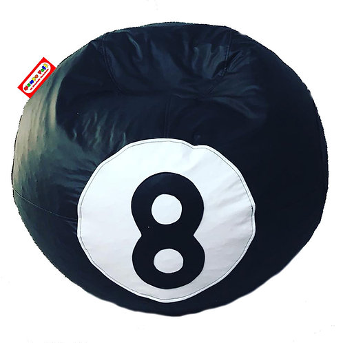 Sillon Puff Bola Billar 8 Estandar. Ideal Para Personas De Hasta 70 Kg