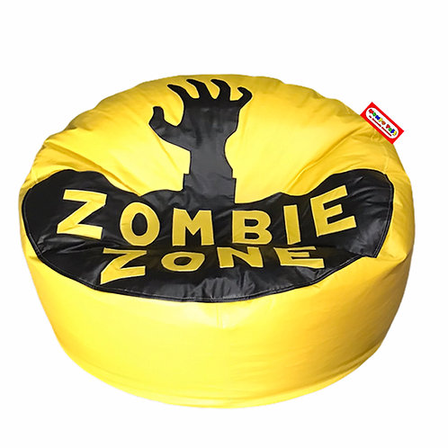 Sillon Puff Zombie Zone, Ideal Para Personas De Hasta 75 Kg