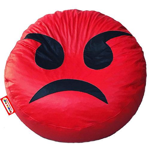 Sillon Puff Emoji Enojado. Ideal Para Personas De Hasta 70 Kg