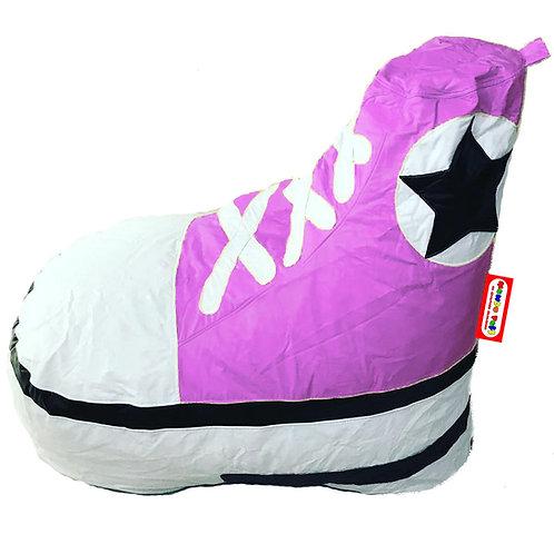 Sillon Puff Tenis tipo Converse Pink. Ideal Para Personas De Hasta 90 kg