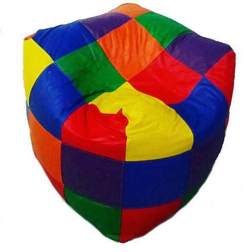 Sillon Puff Cubo Rubik Chico. Ideal Para Personas De Hasta 50 kg