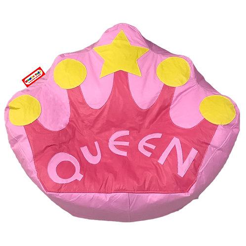 Sillon Puff Corona Queen. Ideal Para Personas De Hasta 70 Kg
