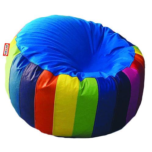 Sillon Puff Circular Arcoiris Grande. Ideal Para Personas De Hasta 110 Kg