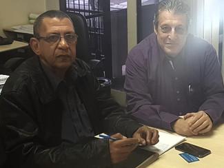 Presidente do Sindmestres Jorge em Reunião com o Secretário Jesus do CEREST. De Jundiaí ótima reuniã