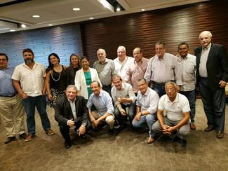Lideranças sindicais reunidas na Fiesp