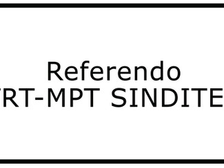 Referendo TRT-MPT SINDITEC