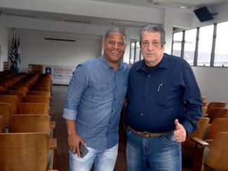 Presidente do Sindmestres e da Fetrarex Jorge Ferreira . Recebe a visita do amigo Marcelinho Carioca