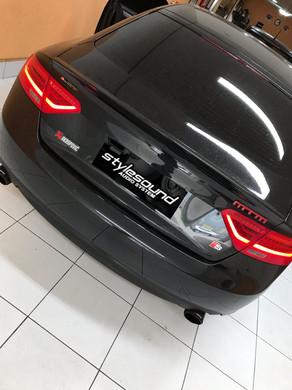 Audi A5 2015 instalação de Multimidia, insulfilme g05 e super leds