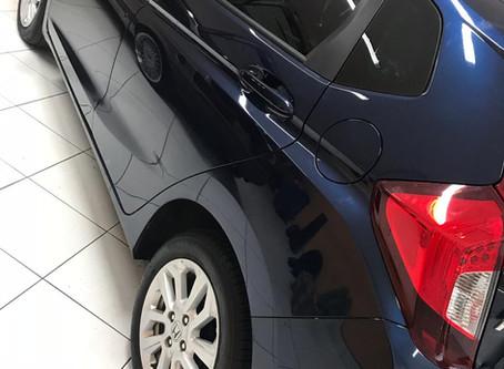 Honda fit 2018 instalação de sensor de estacionamento na cor e insulfilme g20