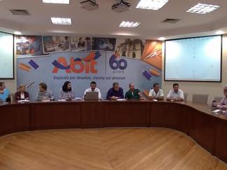 Reunião no Patronal Sinditexti. Negociado da Convenção Coletiva 2018/2019.. Jorge Ferreira president