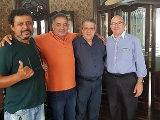 Osmar; Marco Antônio - presidente do Sindicato têxteis de Sorocaba; JORGE FERREIRA - presidente do S
