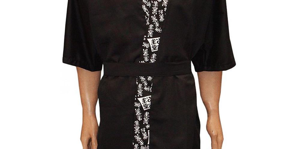 Kimono Preto Estampado