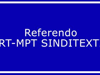 Referendo TRT-MPT SINDITEXTIL
