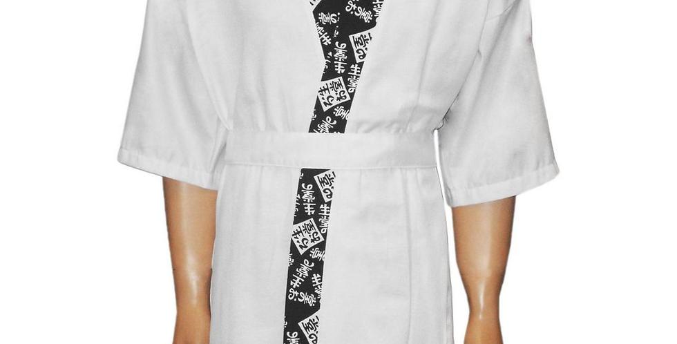 Kimono Branco Estampado