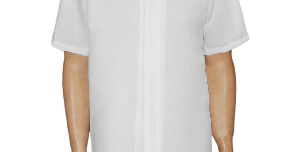 Jaleco Clássico Botão Coberto Branco