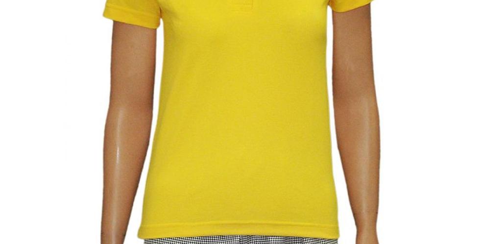 Pólo Feminina Amarela