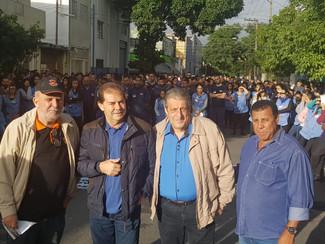 Manifestações contra a reforma trabalhista realizado nesta sexta feira dia 22/03