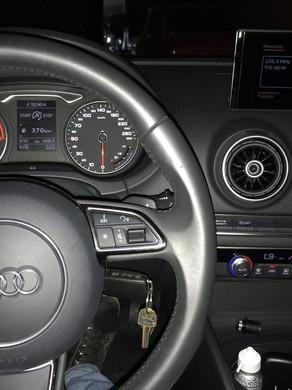 Audi a3 2017 projeto instalação de película profissional G05 e para-brisa G35, desbloqueio de dvd em