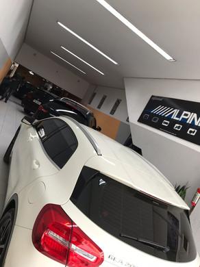Mercedes gla200 2015 aplicação de insulfilme g20 e desbloqueio de dvd