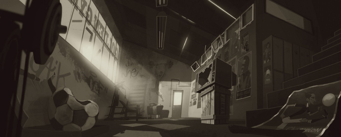 SET DESIGN/CONCEPT ART for feature film project canceled and not released