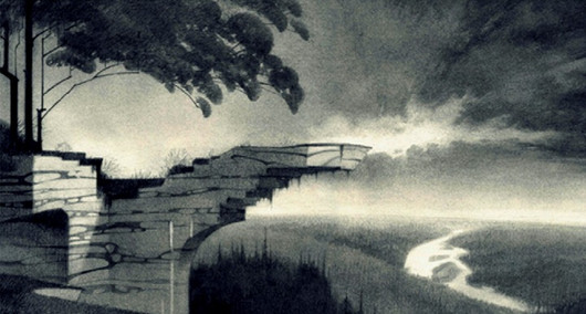 """Early concept - BACKGROUND DESIGN for the animated feature film """"Happily N´ever after"""""""