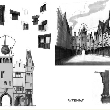SET DESIGN for the animated feature film THE TALE OF DESPEREAUX