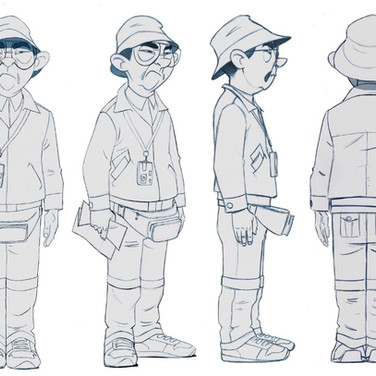 CHARACTER DESIGN and ART DIRECTION for - INVIZIMALS / JOIN THE HUNT - tv series (turnaround)