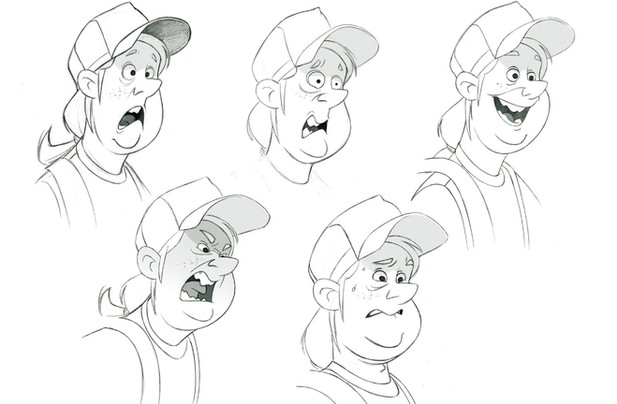 CHARACTER DESIGN and ART DIRECTION for - INVIZIMALS / JOIN THE HUNT - tv series (expressions sheet)