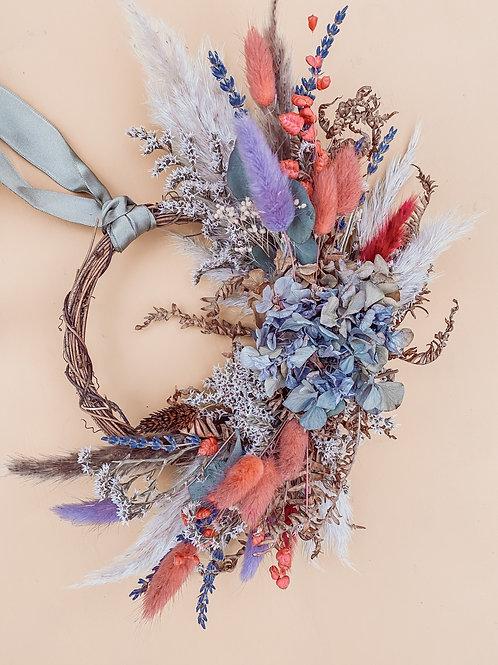 Pink & Blue Mini Wreath