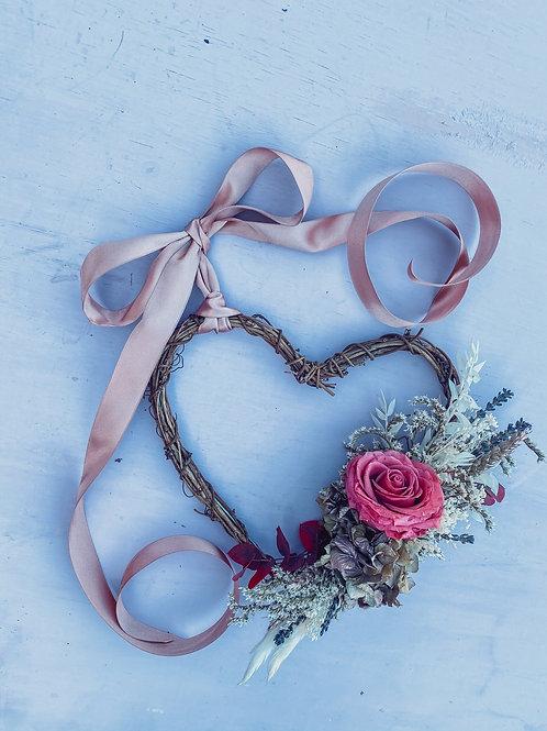 Feeling Rosey Mini Heart Wreath