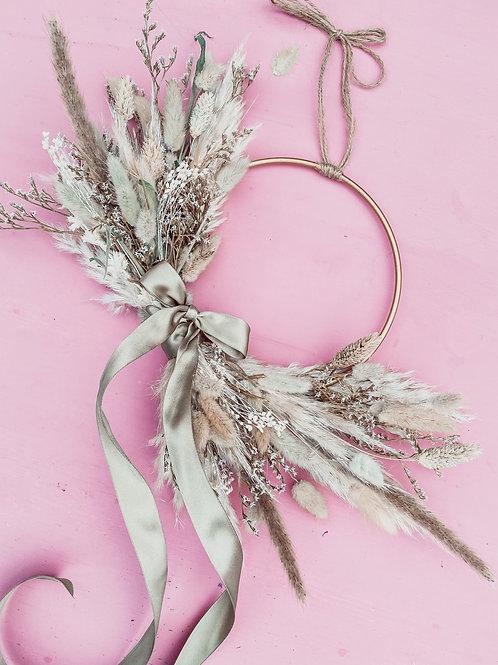 Wild Meadow Mini Gold Hoop Wreath