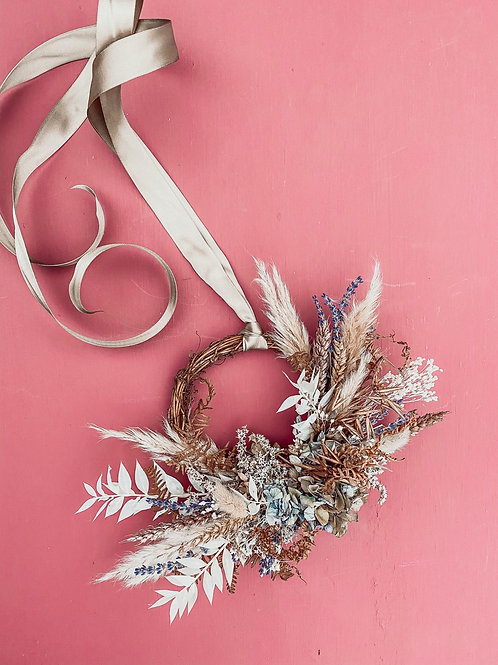 Lavender White Wreath