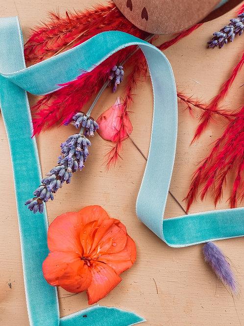 Turquoise Velvet Ribbon