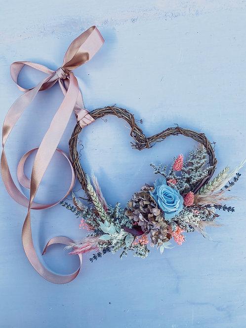 Lilac Clouds Mini Heart Wreath