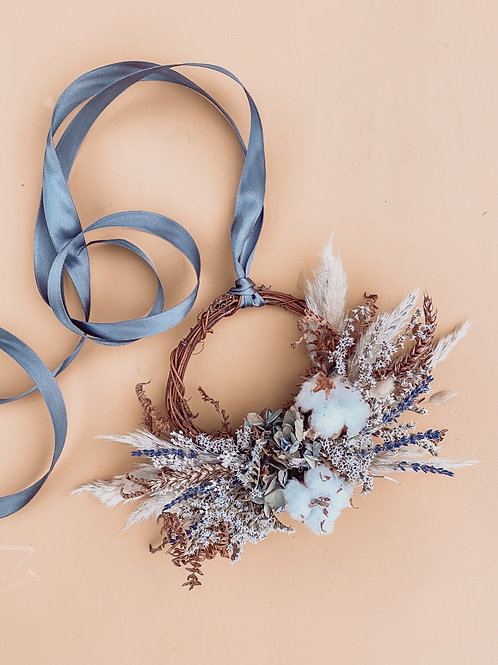 Cotton Blue Mini Wreath